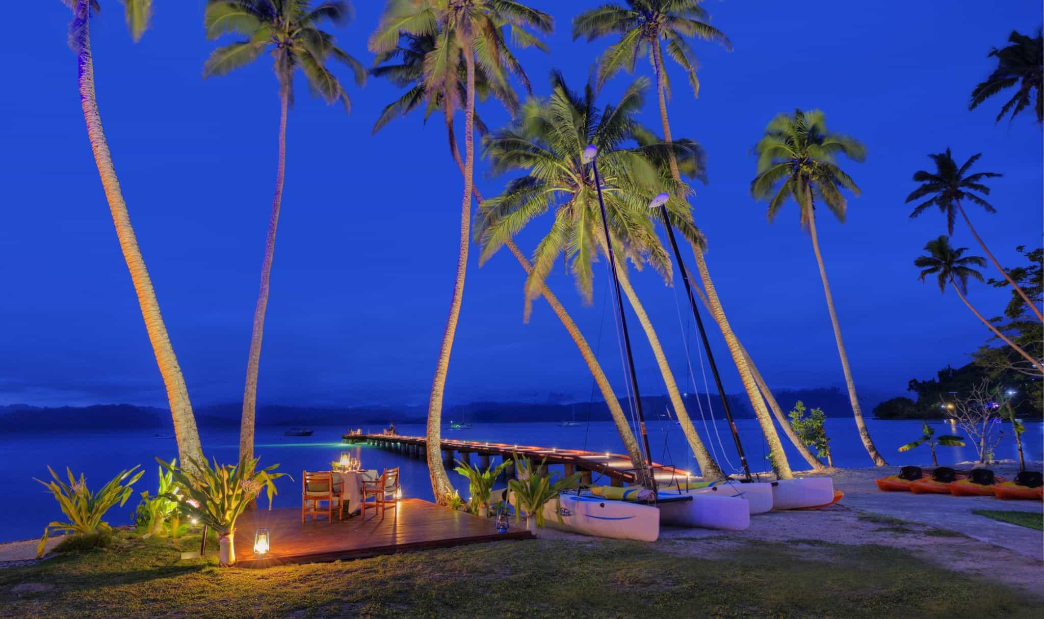 Fiji Dock Illuminated