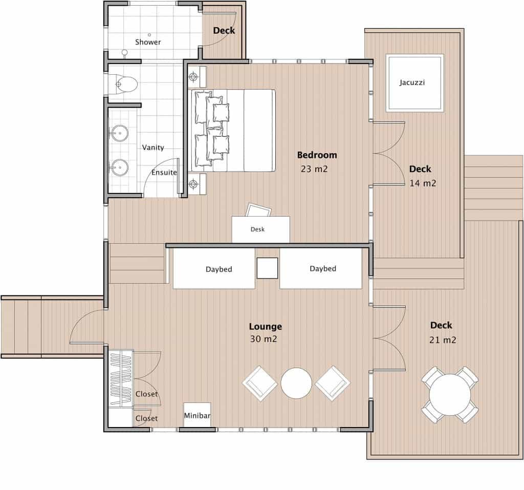 honeymoon bure floor plan