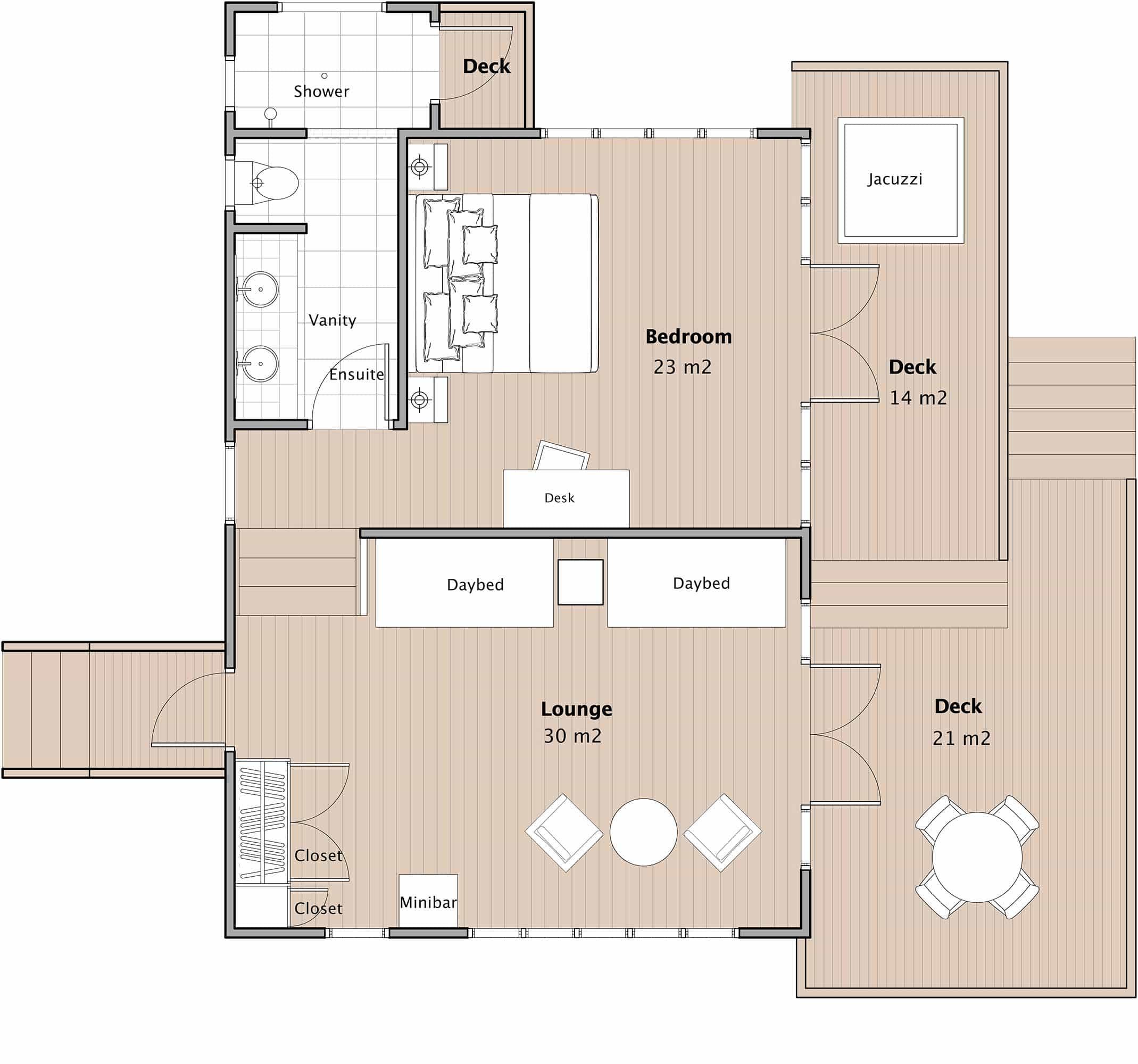 Honeymoon bure with spa fiji honeymoon accommodation for Jmc homes floor plans