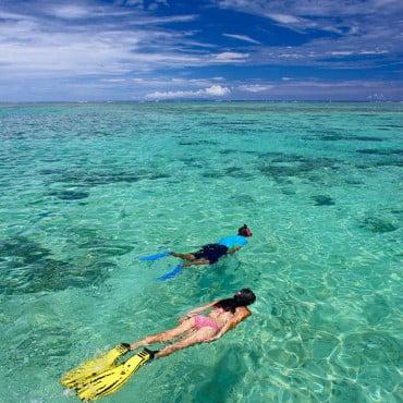 green water snorkeling