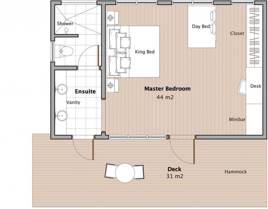 ocean front bure floor plan
