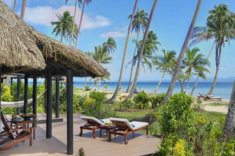 Fiji Resort Oceanfront Bure Deck Overview