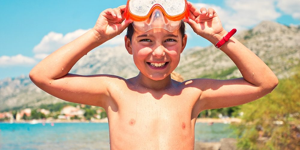 Learn how to snorkel at the Jean-Michel Cousteau Resort.