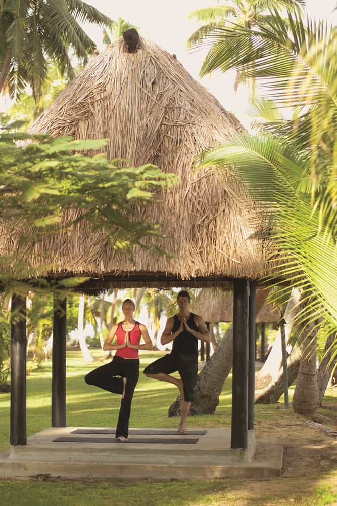 Get ready to practise yoga in paradise.