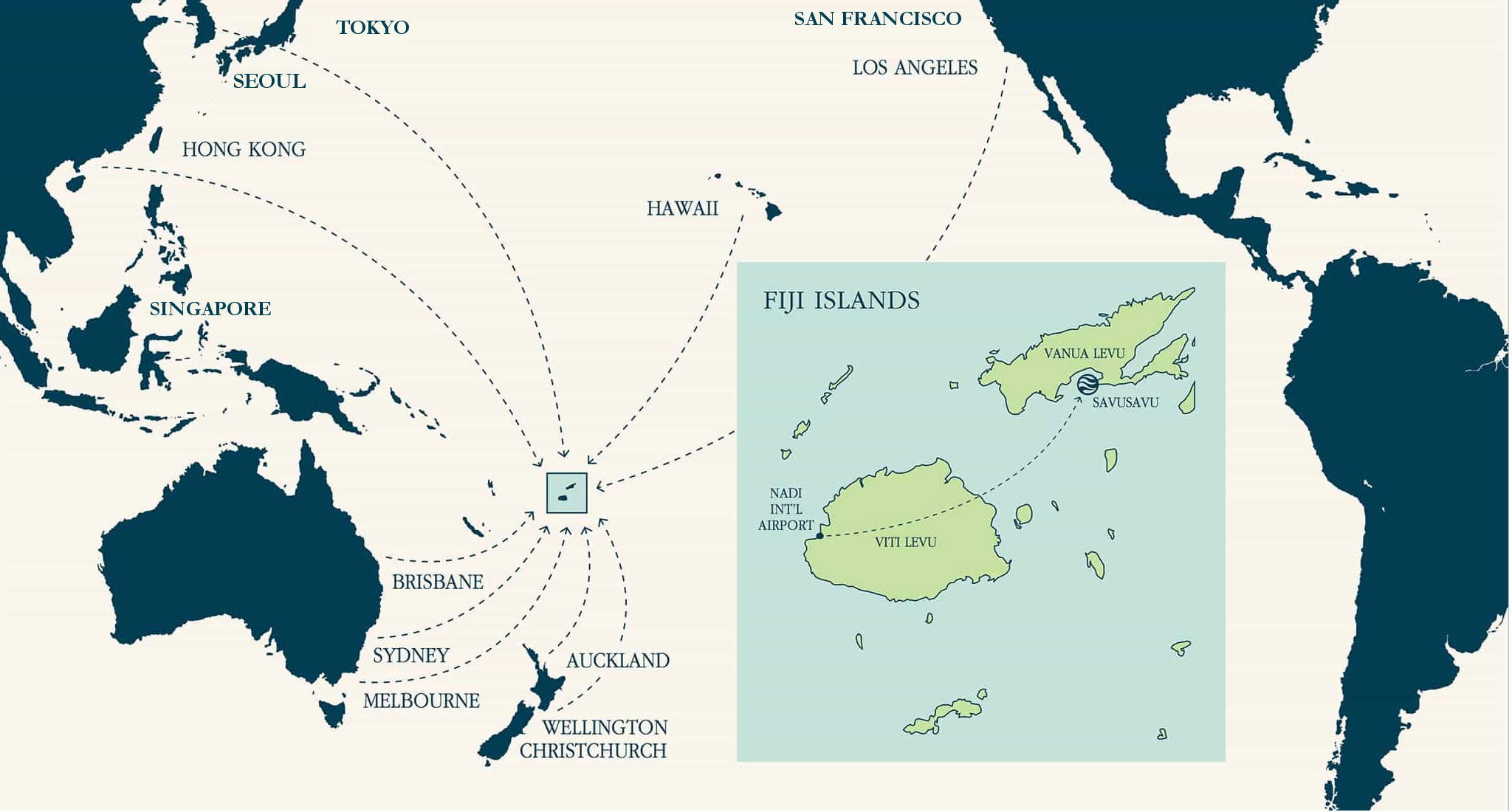 Travel to JMC Resort Fiji Map