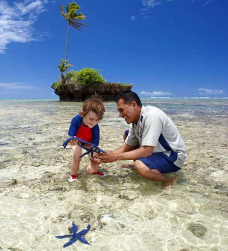 Fiji Reef Walk Biologist