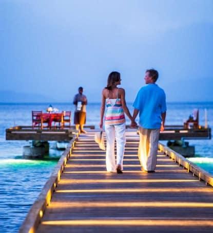 Fiji Resort Romantic Dining Pier Sunset