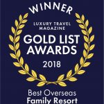 Winner Luxury Travel Magazine Gold List Awards 2018