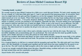 jean michel cousteau resort fiji reviews