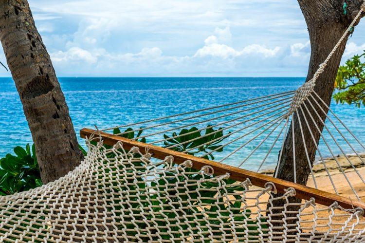 hammock on beachfront